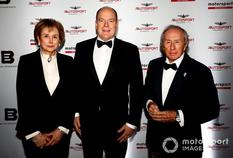 Autosport Awards 2019 - H.E. Mrs Evelyne Genta, H.S.H. Prince Albert II and Sir Jackie Stewart attend the 2019 Autosport Awards. Image Credit: Motorsport Images