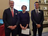 Campden Wealth - S.E. Mme Evelyne Genta avec M. Eliot Goodfellow et M. Justin Highman.
