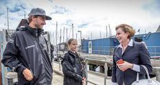 Plymouth - The Ambassador meets Greta Thunberg in Plymouth. © Image by Andreas Lindlahr
